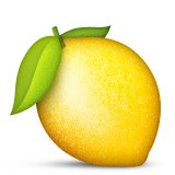 Lemon Emoji (Apple/iOS Version)