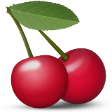 Cherries Emoji (Apple/iOS Version)