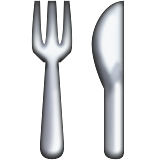 Fork And Knife Emoji (Apple/iOS Version)