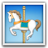 Carousel Horse Emoji (Apple/iOS Version)