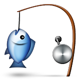 Fishing Pole And Fish Emoji (Apple/iOS Version)