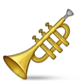 Trumpet Emoji (Apple/iOS Version)