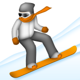 Snowboarder Emoji (Apple/iOS Version)