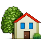 House With Garden Emoji (Apple/iOS Version)