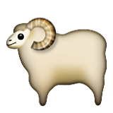 Sheep Emoji (Apple/iOS Version)