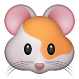 Hamster Face Emoji (Apple/iOS Version)