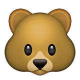 Bear Face Emoji (Apple/iOS Version)