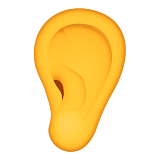 Ear Emoji (Apple/iOS Version)