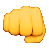 Fisted Hand Sign Emoji (Apple/iOS Version)