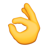 Ok Hand Sign Emoji (Apple/iOS Version)