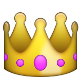 Crown Emoji (Apple/iOS Version)