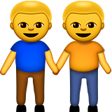 Two Men Holding Hands Emoji (Apple/iOS Version)
