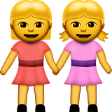 Two Women Holding Hands Emoji (Apple/iOS Version)