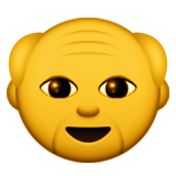 Older Man Emoji (Apple/iOS Version)