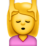Face Massage Emoji (Apple/iOS Version)
