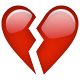 Broken Heart Emoji (Apple/iOS Version)