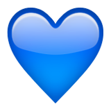 Blue Heart Emoji (Apple/iOS Version)