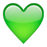 Green Heart Emoji (Apple/iOS Version)