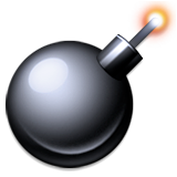 Bomb Emoji (Apple/iOS Version)