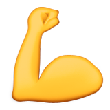 Flexed Biceps Emoji (Apple/iOS Version)