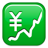 Chart With Upwards Trend And Yen Sign Emoji (Apple/iOS Version)