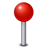 Round Pushpin Emoji (Apple/iOS Version)