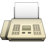 Fax Machine Emoji (Apple/iOS Version)