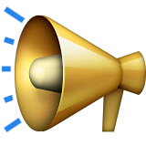 Public Address Loudspeaker Emoji (Apple/iOS Version)