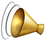 Cheering Megaphone Emoji (Apple/iOS Version)
