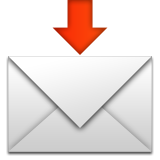 Envelope With Downwards Arrow Above Emoji (Apple/iOS Version)