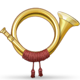 Postal Horn Emoji (Apple/iOS Version)
