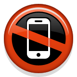 No Mobile Phones Emoji (Apple/iOS Version)