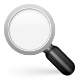 Left-pointing Magnifying Glass Emoji (Apple/iOS Version)