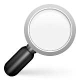 Right-pointing Magnifying Glass Emoji (Apple/iOS Version)