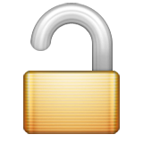 Open Lock Emoji (Apple/iOS Version)