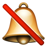 Bell With Cancellation Stroke Emoji (Apple/iOS Version)
