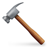 Hammer Emoji (Apple/iOS Version)