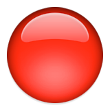 Large Red Circle Emoji (Apple/iOS Version)
