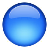 Large Blue Circle Emoji (Apple/iOS Version)