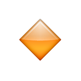 Small Orange Diamond Emoji (Apple/iOS Version)