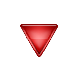 Down-pointing Red Triangle Emoji (Apple/iOS Version)