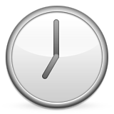 Clock Face Seven Oclock Emoji (Apple/iOS Version)