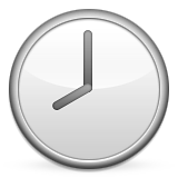 Clock Face Eight Oclock Emoji (Apple/iOS Version)