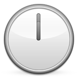 Clock Face Twelve Oclock Emoji (Apple/iOS Version)