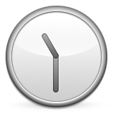 Clock Face Eleven-thirty Emoji (Apple/iOS Version)