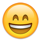 Smiling Face With Open Mouth And Smiling Eyes Emoji (Apple/iOS Version)