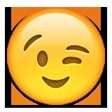 Winking Face Emoji (Apple/iOS Version)