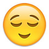 Relieved Face Emoji (Apple/iOS Version)