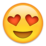 Smiling Face With Heart-shaped Eyes Emoji (Apple/iOS Version)