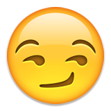 Smirking Face Emoji (Apple/iOS Version)